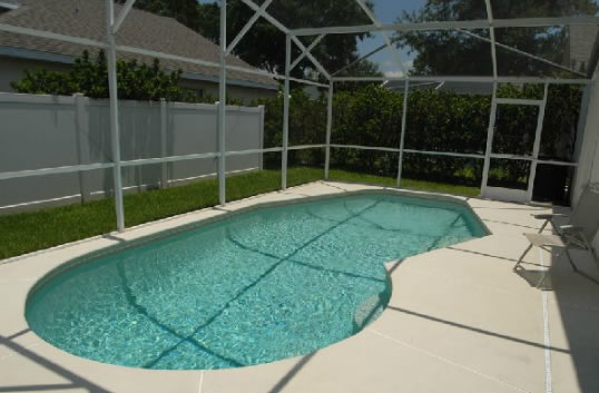 Vacation Rental screened in pool